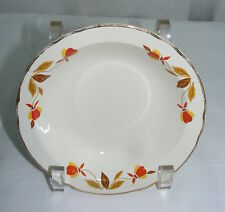 Vintage Hall Superior China Autumn Leaf Jewel T 5.5 Berry Sauce Dessert Bowl