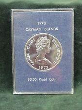 1973 Cayman Islands Silver $5 Elizabeth II