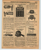 1927 PAPER AD Buell Car Auto Truck Explosion Whistle Chime Tone
