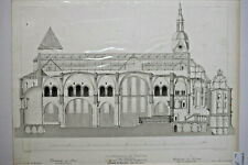 CATHEDRALE TREVES Allemagne GRAVURE Amoudru Bury ARCHITECTURE Gailhabaud XIX°