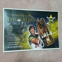 JOHNATHAN THURSTON *Career Print: NRL Memorabilia* North Queensland Cowboys