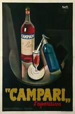 Vintage Bitter Campari 1926 Italy Wine Advert Print Poster Wall Art Picture A4 +