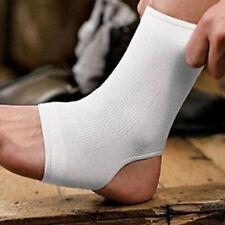 2 x White Elastic Ankle Support  Sport Sock Running Injury Sprain Brace foot