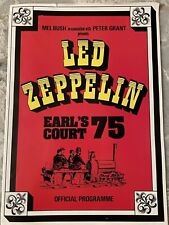 "Led Zeppelin Earl's Court Full Color ""Reproduction� of 1975 Programme"