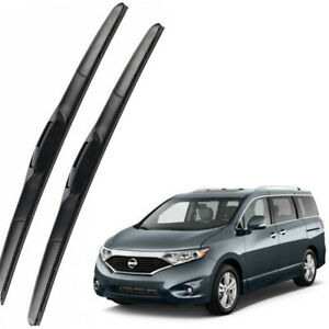 Genuine OEM Front Windshield Wiper Blades For 2011-2017 Nissan Quest Full Series