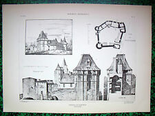 Château de Cherveux ( Deux-Sèvres)  planche début XX°