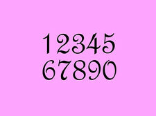 STENCIL 3 Inch French Numbers Set