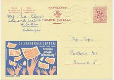 BELGIEN 1969, 2169 DE NATIONALE LOTERIJ LOTTERIE/LOTTO 2 F Werbe-GA HOBOKEN