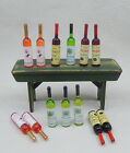 Vintage Wine Cellar Bottles Lot Dollhouse Miniature 1:12 photo