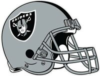 Oakland Raiders Helmet NFL Vinyl Decal / Sticker Sizes Free Shipping