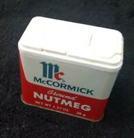 Vintage 1974  Mc McCormick Ground Nutmeg Tin 1/4 Full movie prop