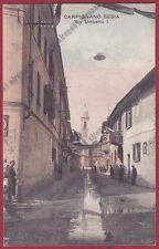 NOVARA CARPIGNANO SESIA 44 Via UMBERTO I Cartolina VIAGGIATA 1949
