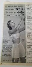 1957 women's LEWELLA women's Tommy Tucker girdle garter strapless bra ad