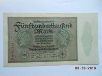 Deutschland 500 000 Mark Reichsbanknote. Ro-87f ss