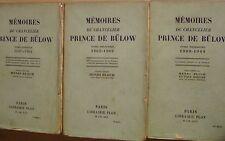 BULOW Prince de - MEMOIRES - 1930/1931