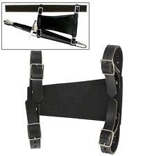 Medieval Leather Black Renaissance Costume Sword Dagger Hanger Dagger Frog