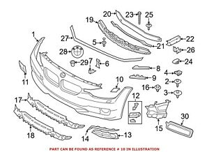 For BMW Genuine Headlight Washer Cover Front Left 51117371847