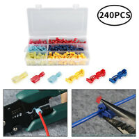 Car Motorcycle Wire Terminals 240 pcs T Tap Quick Splice Connectors Auto Kit UK