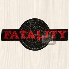 Mortal Kombat Fatality Logo Embroidered Patch Sub-zero Scorpion Raiden 9 PS