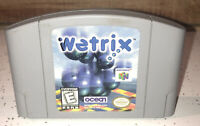 Nintendo 64 Wetrix N64 Video Game, Cart Only 1997, Cleaned Tested Authentic