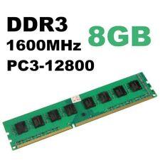 Per 8GB PC3-12800 1 x 8GB Memoria per Pc DDR3 1600Mhz 240pin Ram