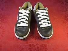 Adio Shoes Brown Leather Skateboarding Casual Men/Youth Size 5.5 US/37 EUR