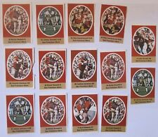 1972 Sunoco / Nfl Football Stamps - San Francisco 49ers - Lot Of 14