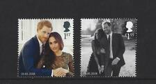 GREAT BRITAIN 2018 THE ROYAL WEDDING PRINCE HARRY, MEGHAN MARKLE TWO STAMPS