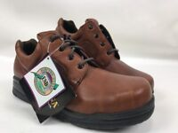 Carolina Mens 4161 ESD Nature Steel Toe Oxford Shoes Size 9.5 D Brown Leather