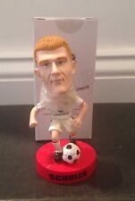 Paul Scholes Manchester United Mini 2003 Bobblehead, English Soccer White Jersey