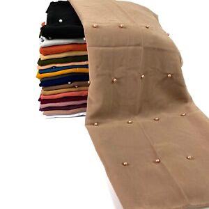 Pearl Chiffon Sparkle Scarf Hijab Sarong Large Cotton Maxi Shawl Wrap Maxi