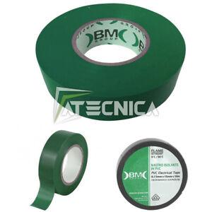 Cinta Aislante Para Electricistas Profesional Bm beta ESB1510 Verde 15mm x10mt