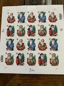 2001 34 cent Christmas Santa full Sheet of 20 Scott #3537-3540 Mint NH