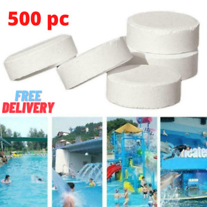 500pcs Chlorine Tablets For Swimming Pool Multifunction Instant Disinfection Tub