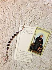 "NEW ""ST.Peregrine ""PANCREATIC"" CANCER CHAPLET"" Czech Crystal Prayer Booklet, H.C"