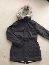 NEW HOLLISTER WOMEN Stretch Cozy-Lined Parka Jacket DARK GRAY, LARGE