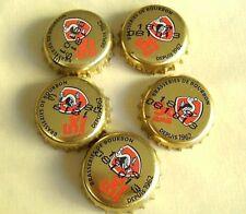 RARE LOT 5 CAPSULES de BIÈRE * BOURBON * ILE DE LA RÉUNION * BEER CAPS
