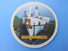 """Beer Coaster ~ Brauerei EICHHOF Bier ~ """"Rigi"""" Boat of 1847 ~ Luzern, SWITZERLAND"""