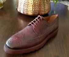 Kurt Geiger leather shoes 46 12 / 13 Gabriel wing tip brogues wine oxfords New