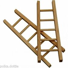 Mini Wooden Ladder Dolls House 10 cm - Plain 10cm High Tapered Shape