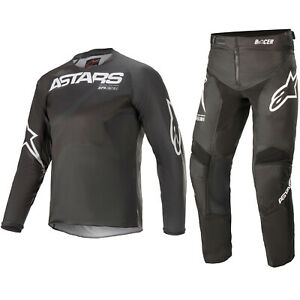 ALPINESTARS YOUTH MOTOCROSS KIT PANTS JERSEY - RACER BRAAP BLACK GREY WHITE