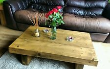 CHUNKY RUSTIC RECLAIMED STYLE COFFEE TABLE HANDMADE SOLID WOOD