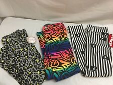 NEW 3 PAIRS OF FASHION JEGGINGS STRETCHY PANTS SIZE 7/8 WILD DESIGNS PIPER BONGO