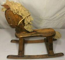 Vintage Wooden Rocking Horse, Child Baby Toddler Rocker Pony