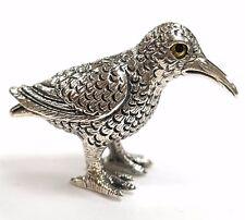 Objet de collection style victorien Miniature Oiseau Figurine Argent Sterling 925