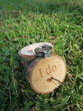 Camouflage Pink Camo Wedding Engagement CZ Ring, Wooden Box, U choose size!