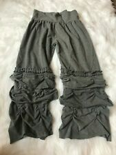 Girls Ruffle Capri's by Southern Style Size Medium Gray Color Elastic Band