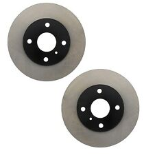 Pair Set of 2 Front C-Tek Brake Disc Rotors For Ford Mazda 323 Mercury Tracer