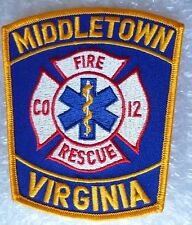 Patch- Middletown Virginia Fire Rescue Co 12 US Police Patch (New* )