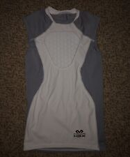 Boys McDavid Hexpad Grey Baseball Heart Guard Shirt Chest Protector Youth Medium